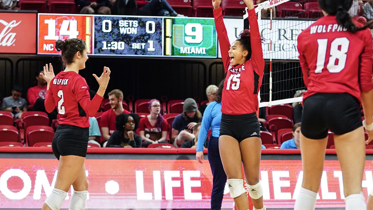Volleyball Sweeps Miami for First Time Since 2010